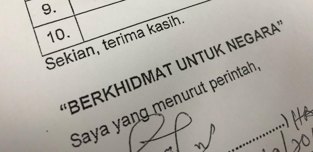 Penggunaan Frasa Saya Yang Menjalankan Amanah Dalam Surat Rasmi Kerajaan Berkuat Kuasa Sarawakvoice Com